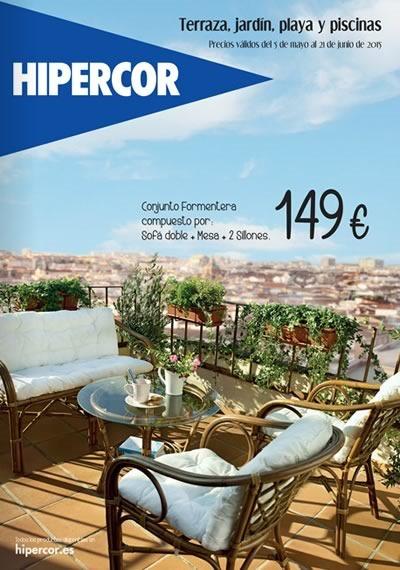 catalogo hipercor terraza jardin playa piscinas 2015