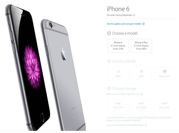 catalogo iphone 6 y iphone 6 plus