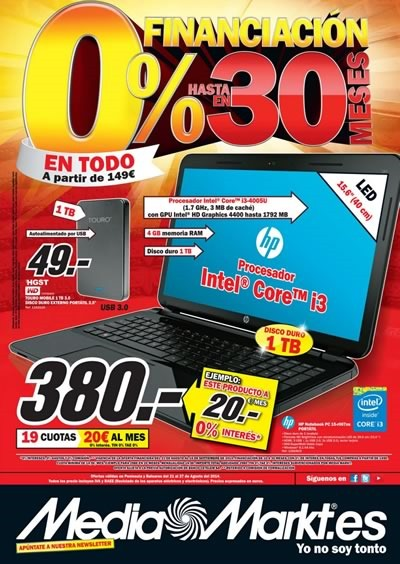 catalogo media markt 26 27 agosto 2014 financiacion