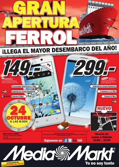 catalogo media markt octubre 2013 apertura ferrol espana