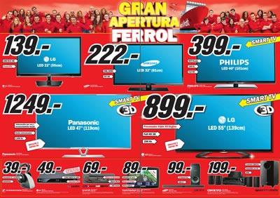 Ofertas Media Markt Gran Apertura Ferrol Octubre 2013 Espa 241 A