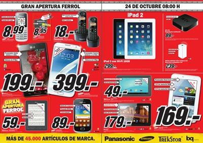 Ofertas Media Markt Gran Apertura Ferrol Octubre 2013 - España 4ffd3971d06a