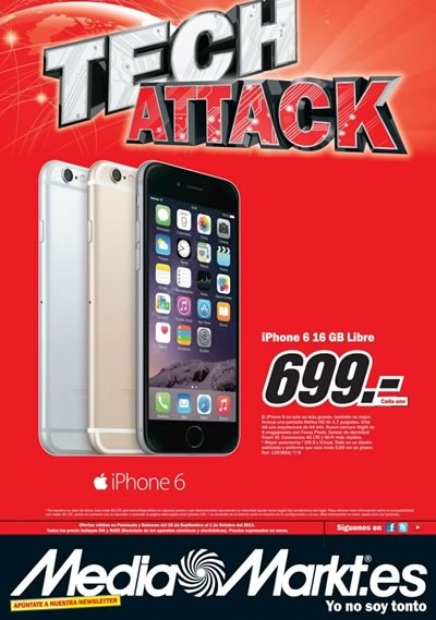 catalogo media markt ofertas tech attack octubre 2014