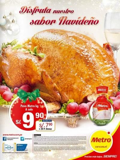 catalogo metro cenas navidad 2014 peru