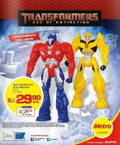catalogo metro transformers age of extinction julio 2014