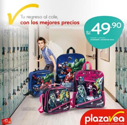 catalogo mochilas plaza vea enero 2014