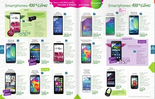 catalogo movistar abril 2015 smartphones tablets espana smartphones libres