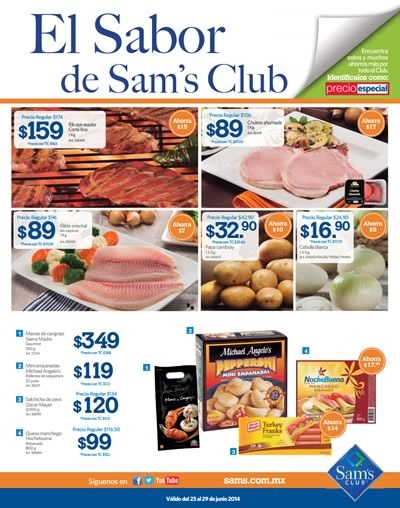 catalogo ofertas sams club junio 2014