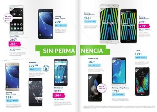 catalogo ofertas smartphones movistar espana septiembre 2016