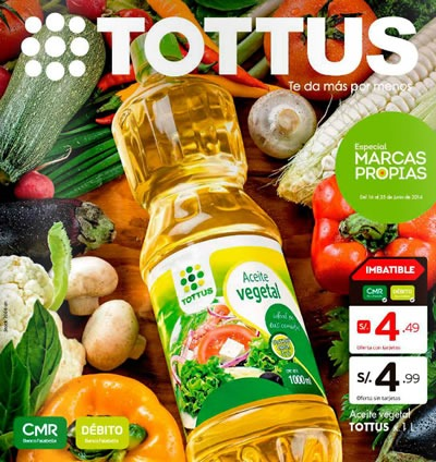 catalogo ofertas tottus marcas propias junio 2014