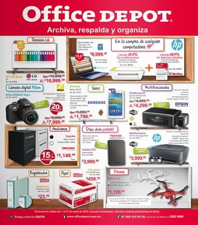 catalogo office depot ofertas enero 2016