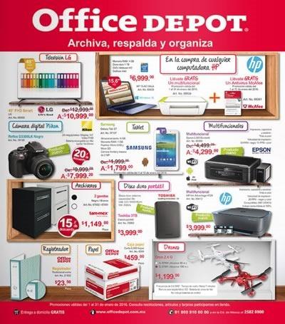 catalogo office depot ofertas enero 2016