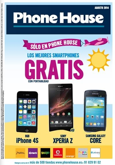 catalogo phone house agosto 2014 moviles