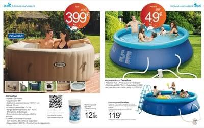 Cat logo de piscinas y accesorios de carrefour espa a for Piscinas gre carrefour