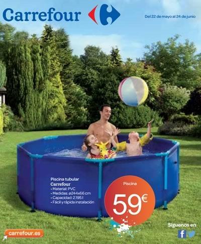 catalogo piscinas accesorios carrefour mayo junio 2014