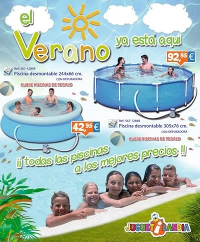 Cat logo de ofertas en piscinas de juguetilandia verano 2014 for Piscinas online ofertas