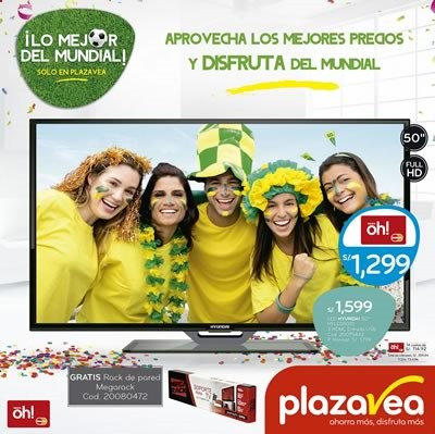 catalogo plaza vea electro junio 2014