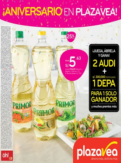 catalogo plaza vea ofertas aniversario octubre 2014