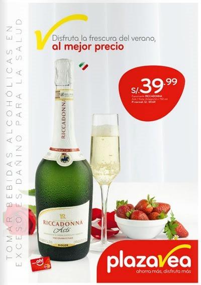 catalogo plaza vea ofertas bebidas san valentin 2014