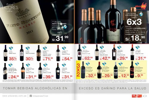 catalogo plaza vea ofertas licores noviembre 2013 3