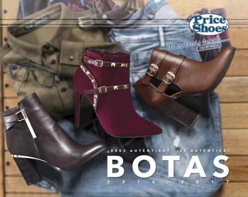 catalogo price shoes botas 2016 2017