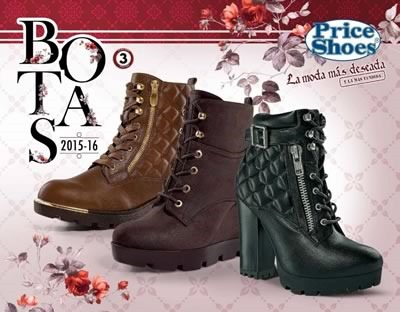 catalogo price shoes botas 2016 tercera edicion