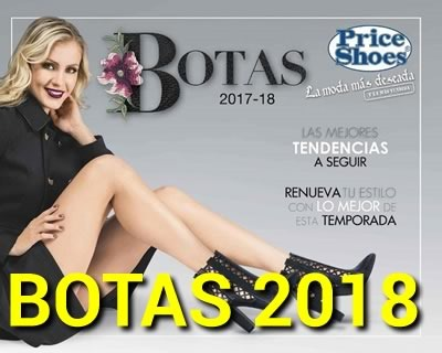 catalogo price shoes botas 2018