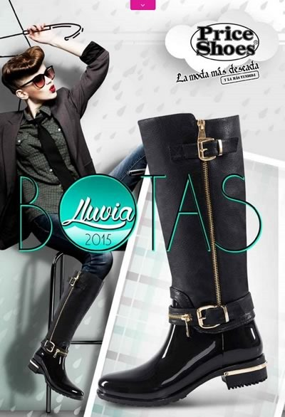 catalogo price shoes botas de lluvia 2015