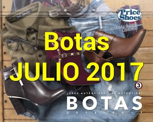 catalogo price shoes botas julio 2017