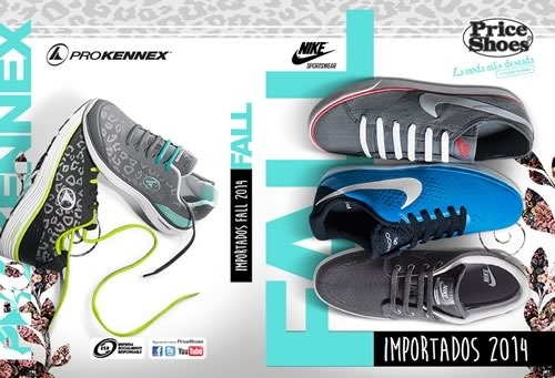catalogo price shoes importados fall 2014
