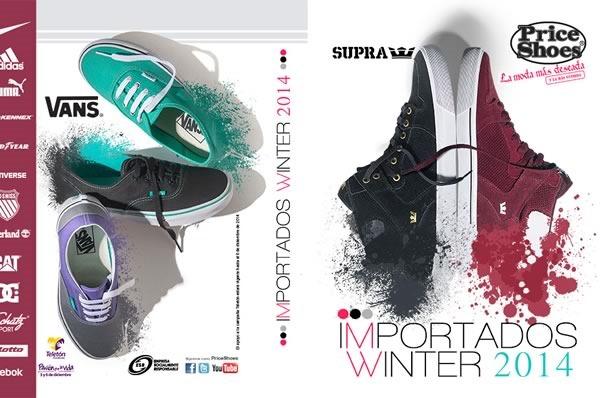 catalogo price shoes importados winter 2014 muestra