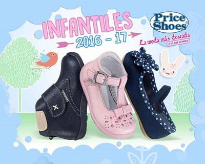 catalogo price shoes infantiles 2016 2017