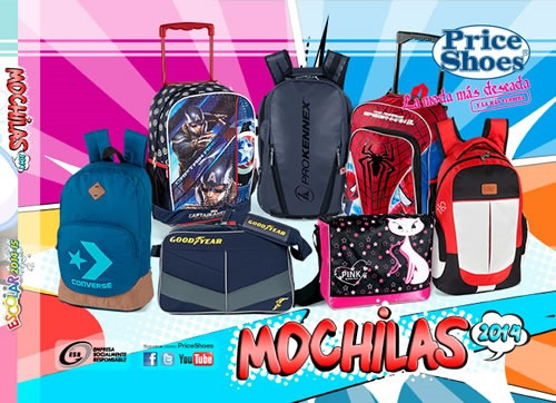 catalogo price shoes mochilas 2014