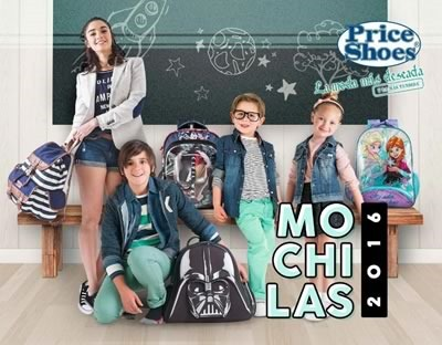 catalogo price shoes mochilas 2016