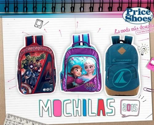 catalogo price shoes mochilas escolares 2015