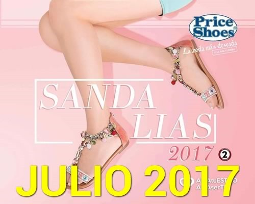 catalogo price shoes sandalias julio 2017