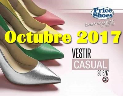 catalogo price shoes vestir casual octubre 2017