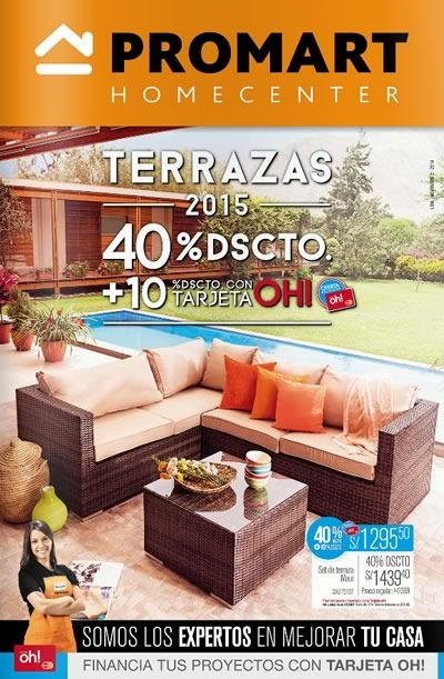 Cat logo promart homecenter ofertas de diciembre 2014 en per for Muebles peru catalogo