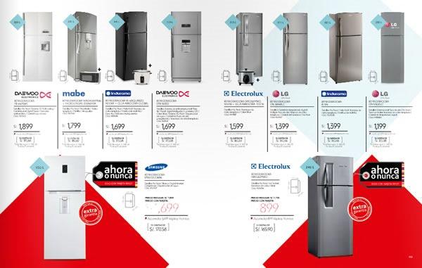 catalogo ripley enero 2014 linea blanca refrigeradoras