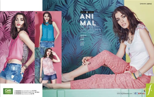 catalogo saga falabella moda prints 2013 peru animal print