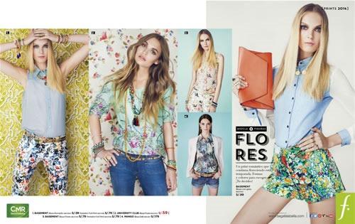 catalogo saga falabella moda prints 2013 peru flores print