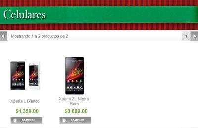 catalogo sams club navidad 2013 - celulares