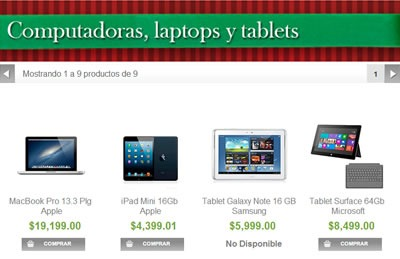 catalogo sams club navidad 2013 - computadoras laptops y tablets