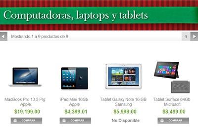 catalogo sams club navidad 2013 - computadoras laptops y tablets