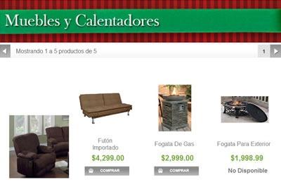 catalogo sams club navidad 2013 - muebles y calentadores