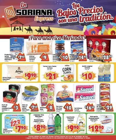 catalogo soriana express 22 28 noviembre 2013