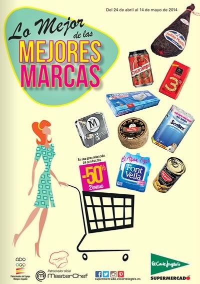 catalogo supermercado el corte ingles mejores marcas mayo 2014