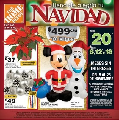 catalogo the home depot ofertas navidad 2015 mexico