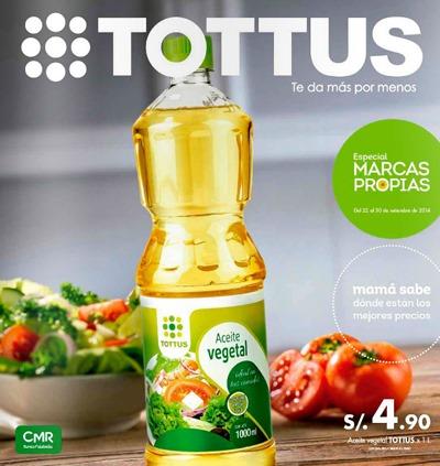 catalogo tottus marcas propias septiembre 2014