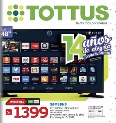 catalogo tottus ofertas 14 aniversario octubre 2016